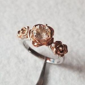 Sterling Silver & 18k Three-Rose Ring